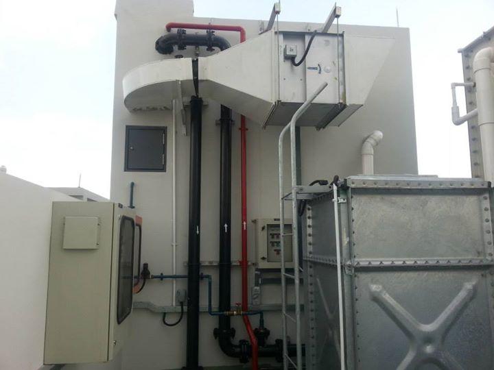 mechanical ventilation duct installation