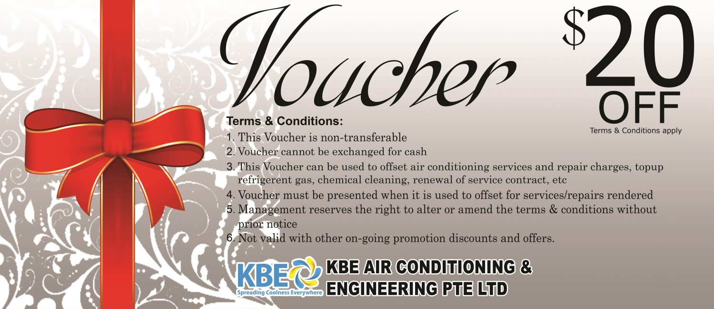 Redeem A Gift Voucher Worth 20 Aircon Servicing Kbe